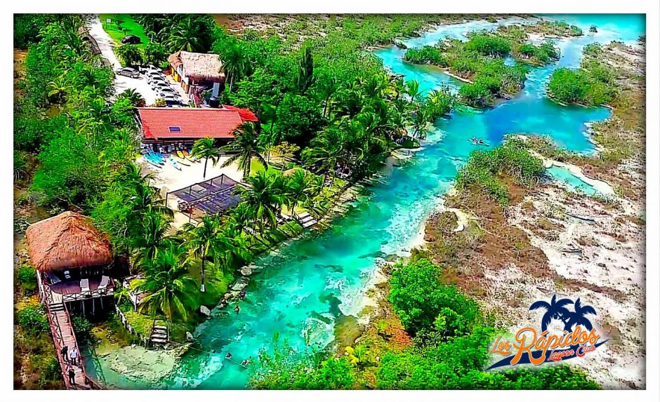 The rapids of Bacalar.